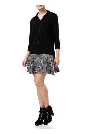 Camisa-Manga-3-4-Feminina-Preto