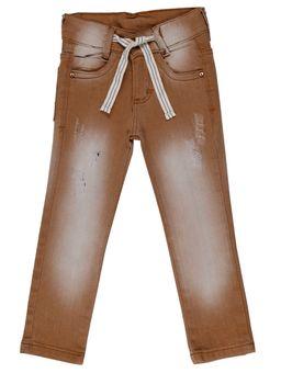 Calca-Jeans-Infantil-Para-Menino---Marrom