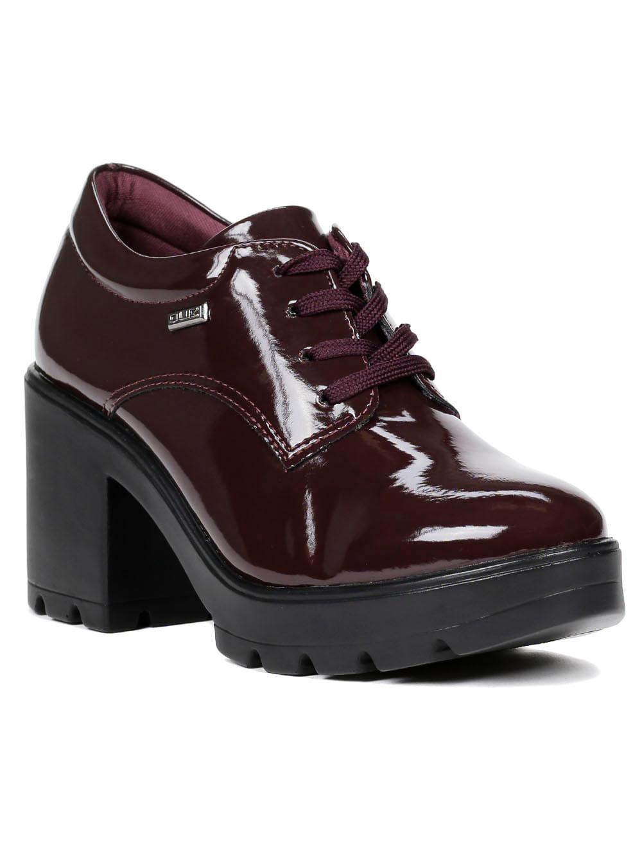 8fd0a541c4 Sapato Oxford Feminino Bordô - Lojas Pompeia