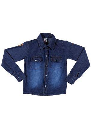 Camisa-Manga-Longa-Infantil-Para-Menino---Azul