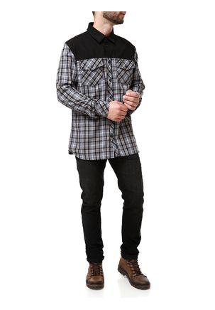 Camisa-Flanela-Manga-Longa-Masculina-Occy-Preto-cinza