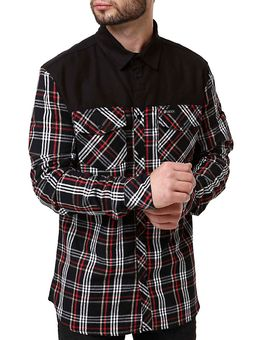 Camisa-Flanela-Manga-Longa-Masculina-Occy-Preto-vermelho