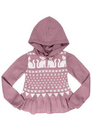 Blusa-Tricot-com-Capuz-Infantil-Para-Menina---Rosa