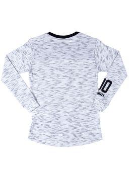 Camiseta-Manga-Longa-Gangster-Infantil-Para-Menino---Bege-preto