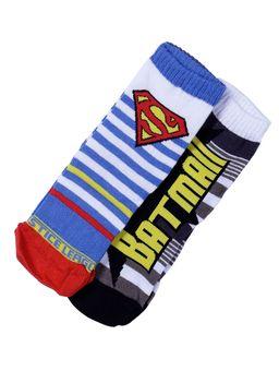 Kit-com-02-Meias-Justice-League-Infantil-Para-Menino---Amarelo-azul