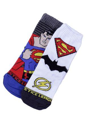 Kit-com-02-Meias-Justice-League-Infantil-Para-Menino---Cinza-branco