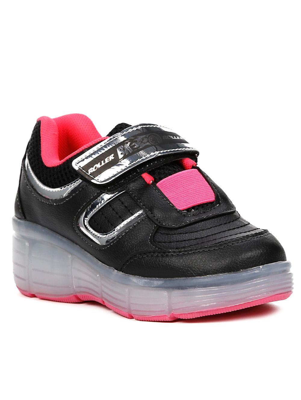 c2af336d502 Tênis Casual Brink Roller Evolution Infantil Para Menina - Rosa pink preto