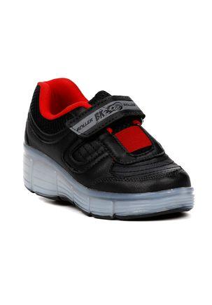 Tenis-Casual-Brink-Roller-Evolution-Infantil-Para-Menino---Preto-vermelho