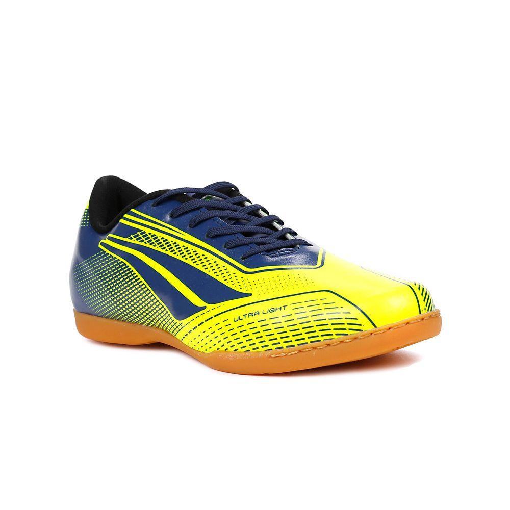 Tênis Futsal Masculino Penalty Storm Speed Indoor Amarelo azul ... 5c0f6765c0558
