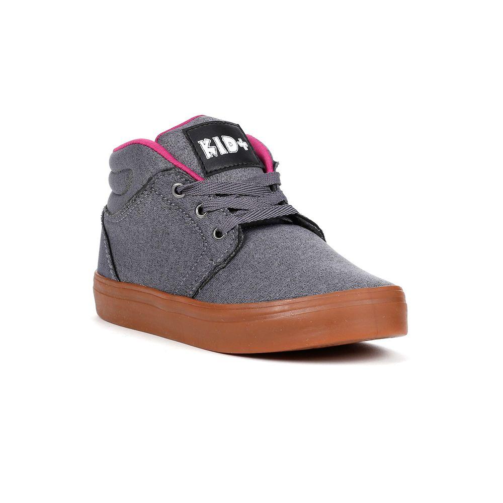 Tênis Kid + Infantil para Menina - Cinza rosa - Lojas Pompeia c9f96bd4e0abc