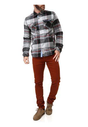 Camisa-Flanela-Manga-Longa-Masculina-Federal-Art-Cinza-vermelho