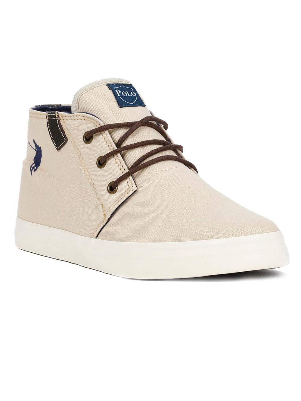7bae04438c44a Tênis Casual Cano Alto Masculino Polo Shoes Long Canvas Bege - Lojas ...