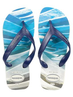 Chinelo Masculino Havaianas Surf Bege/azul