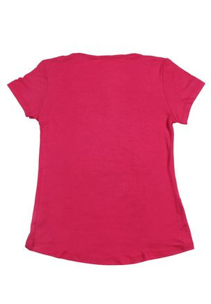 Blusa-Manga-Curta-Juvenil-Para-Menina---Rosa-pink