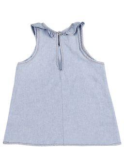Blusa-Regata-Jeans-Infantil-Para-Menina---Azul-claro