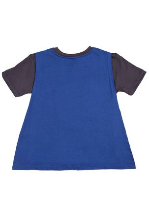 Camiseta-Manga-Curta-Batman-Infantil-Para-Menino---Cinza