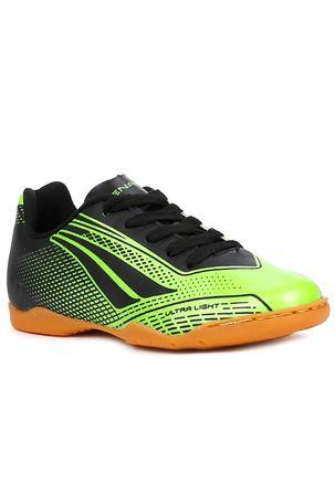 Tenis-Futsal-Penalty-Storm-Speed-Infantil-Para-Menino---Verde-preto