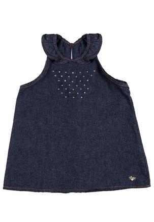 Blusa-Regata-Jeans-Infantil-Para-Menina---Azul