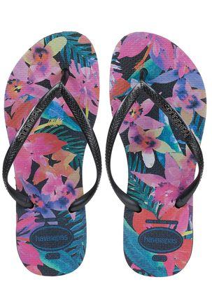 Chinelo-Feminino-Havaianas-Slim-Tropical-Preto