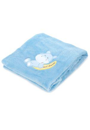 Manta-Para-Bebe-Corttex-Bordado-Azul