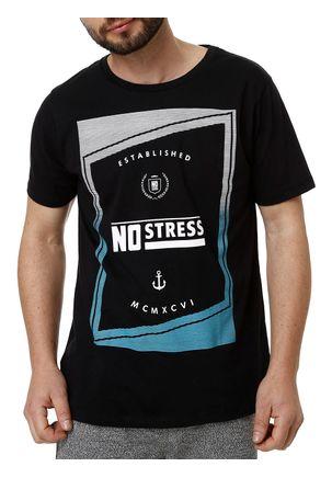 Camiseta-Manga-Curta-Masculina-No-Stress-Preto