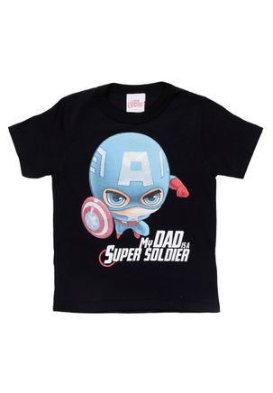 Camiseta-Manga-Curta-Avengers-Infantil-Para-Menino---Preto