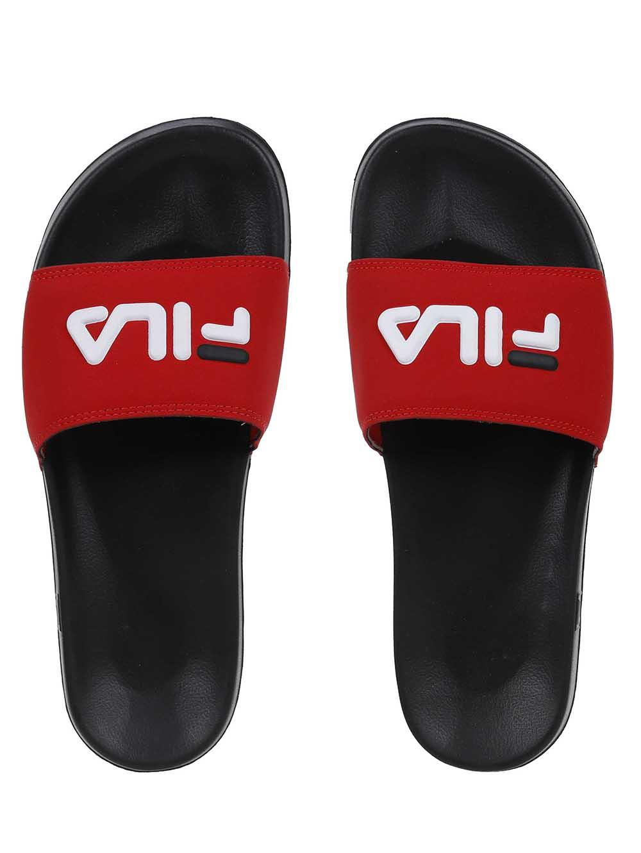7a84876358 Chinelo Slide Masculino Fila Preto vermelho - Lojas Pompeia