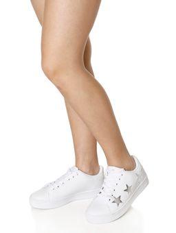 Tenis-Casual-Feminino-Autentique-Branco-prata