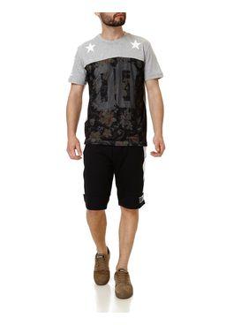 Camiseta-Manga-Curta-Masculina-Federal-Art-Cinza