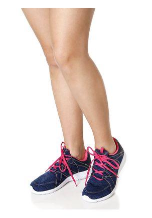 Tenis-Casual-Feminino-Azul-marinho-rosa