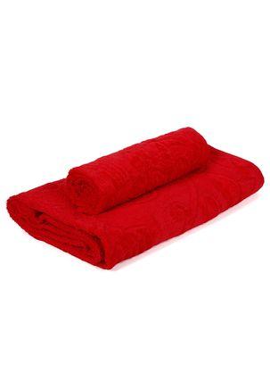 Jogo-de-Banho-com-02-Toalhas-Atlantica-Vermelho