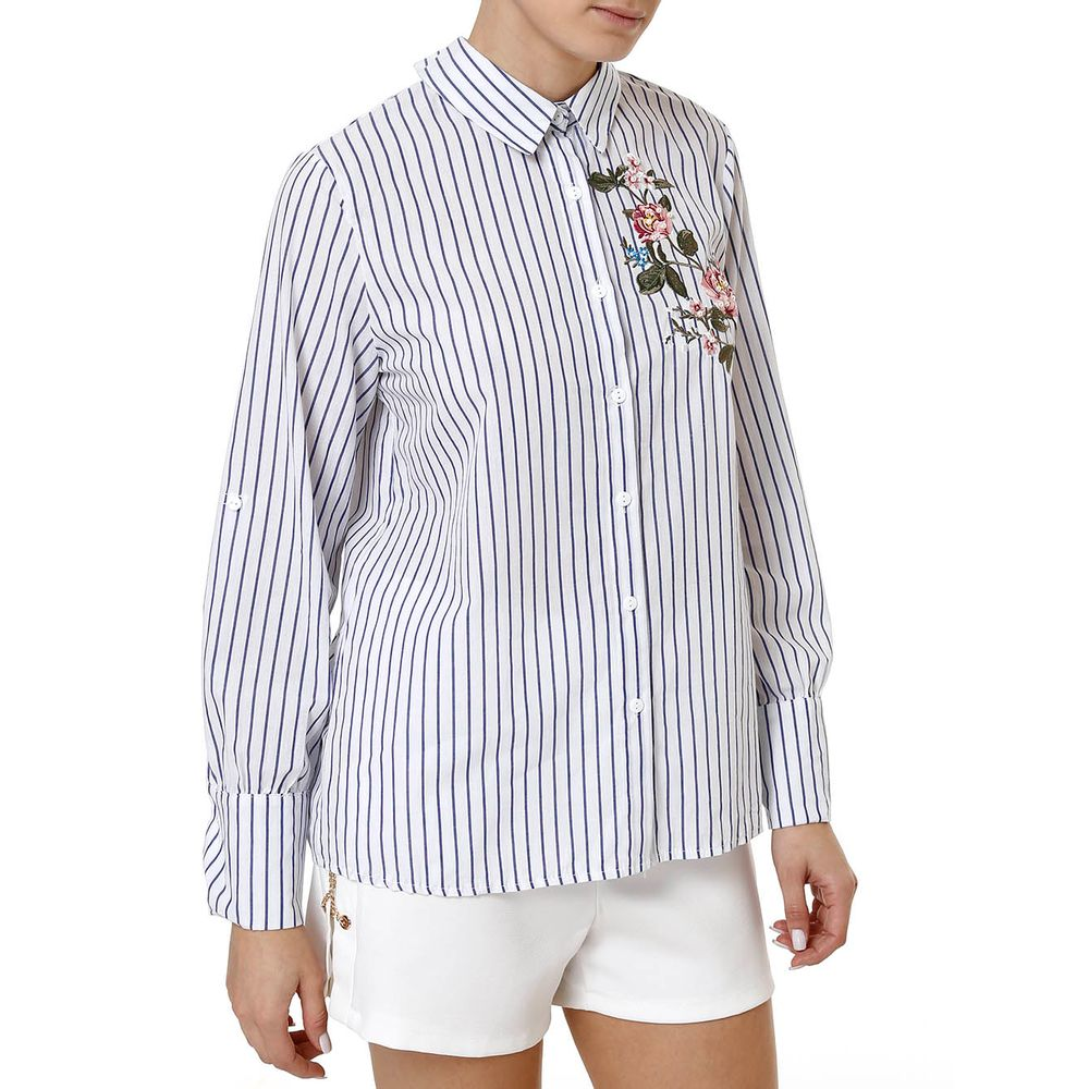 Camisa Manga Longa Feminina Branco - Lojas Pompeia 1820c2ae7cd6e