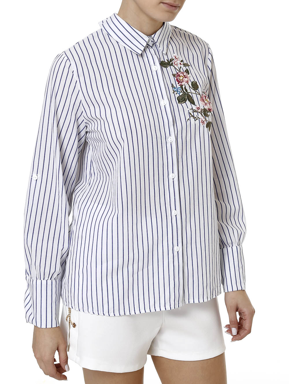 3a93e2237 Camisa Manga Longa Feminina Branco - Lojas Pompeia