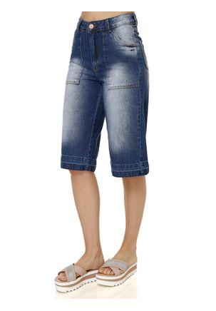 Calca-Capri-Jeans-Sarja-Adulto-Feminino-Uber-Azul