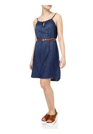 Vestido-Curto-Feminino-Jeans-com-Cinto-Azul