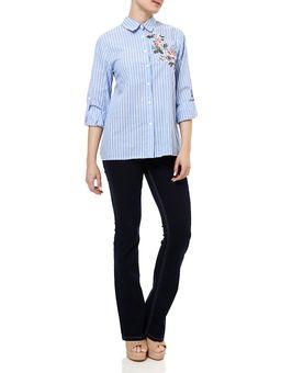 Camisa-Manga-Longa-Feminina-Azul