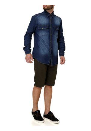 Camisa-Manga-Longa-Jeans-Masculina-Azul