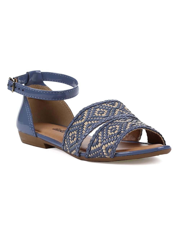 1497bc5cc Sandália Rasteira Feminina Dakota Azul bege - Lojas Pompeia