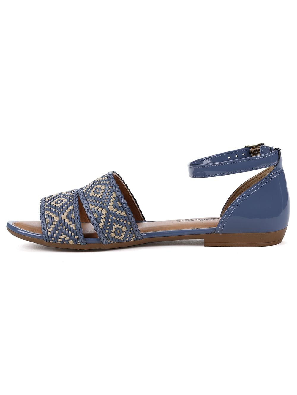 790ca78757 Sandália Rasteira Feminina Dakota Azul bege - Lojas Pompeia