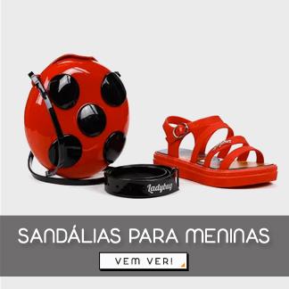sandalias para menina