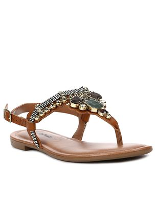 Sandalia-Rasteira-Feminina-Dakota-Caramelo-preto