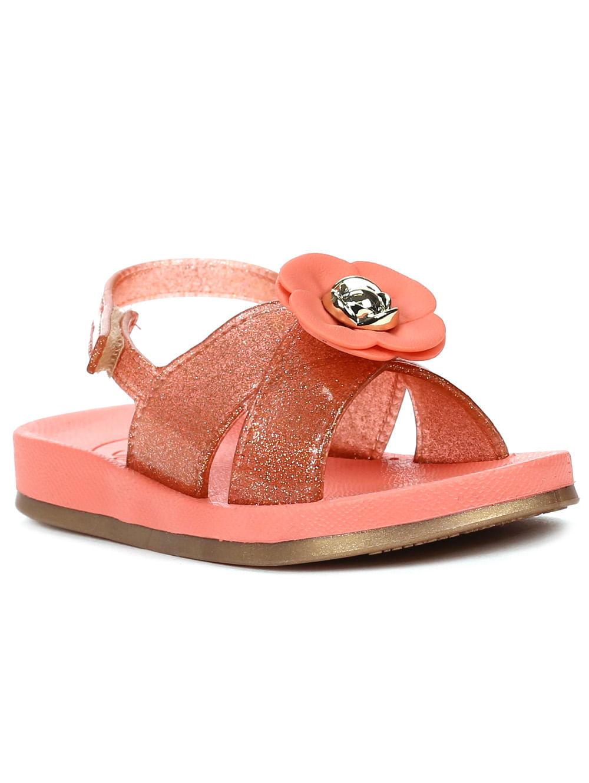 fb0d8b76f Sandália Grendha Sense Baby Infantil Para Menina - Coral - Lojas Pompeia