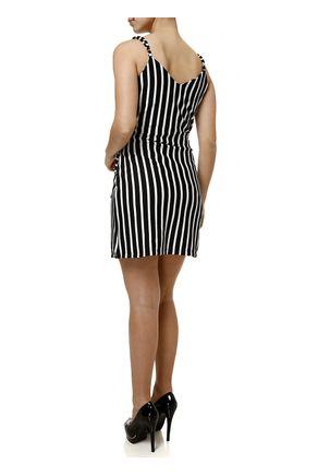 Vestido-Curto-Feminino-Autentique-Preto-branco