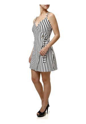Vestido-Curto-Feminino-Autentique-Branco-preto