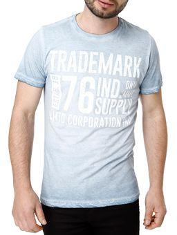 Camiseta-Manga-Curta-Masculina-Azul-claro