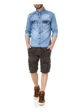 Bermuda-Jeans-Masculina-Bivik-Verde