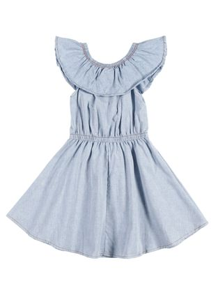 Vestido-Infantil-Para-Menina---Azul-claro