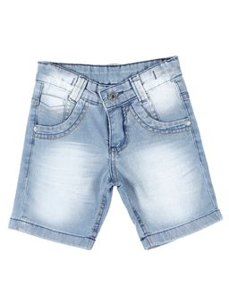 Bermuda-Jeans-Infantil-Para-Menino---Azul