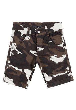 Bermuda-Jeans-Infantil-Para-Menino---Marrom-bege