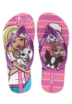 Chinelo-Infantil-Barbie-Para-Menina---Rosa-lilas